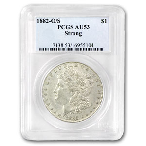 1882-O/S Morgan Dollar Strong AU-53 PCGS (VAM Top-100)