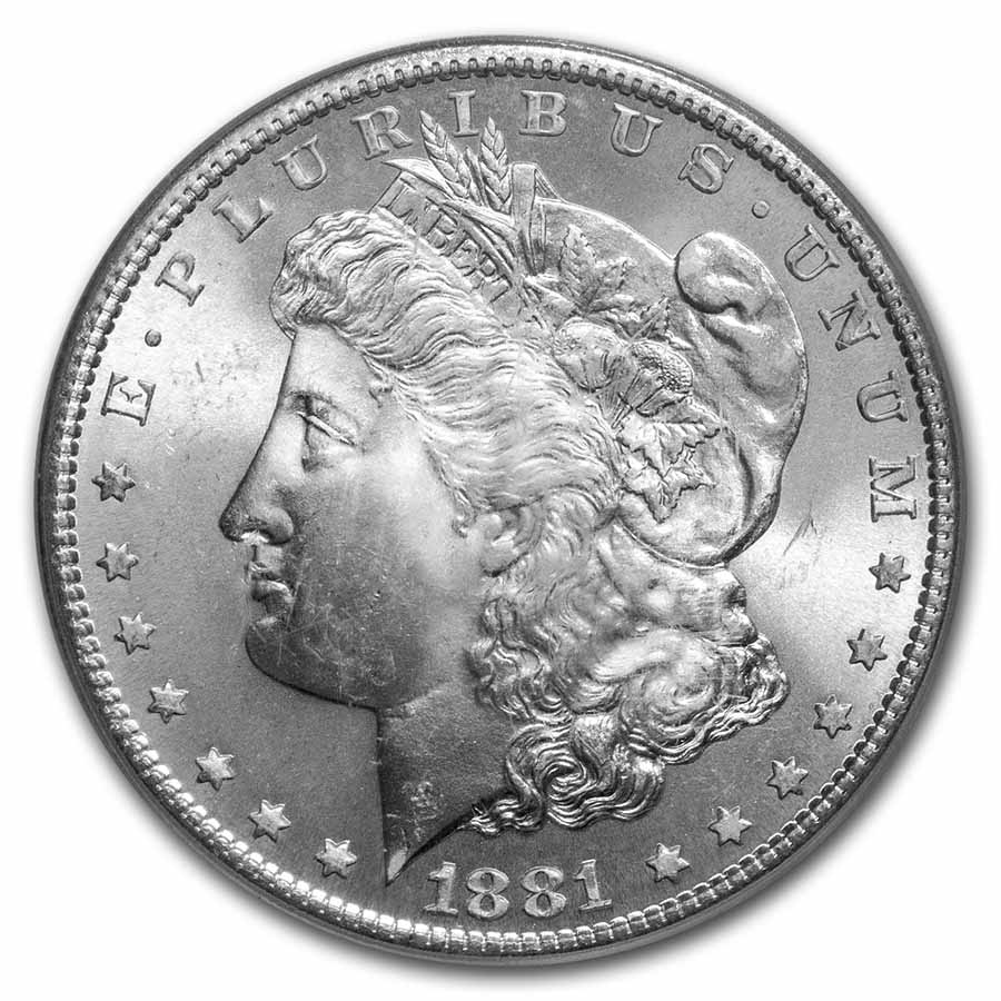 1881-S Morgan Dollar - MS-67 PCGS
