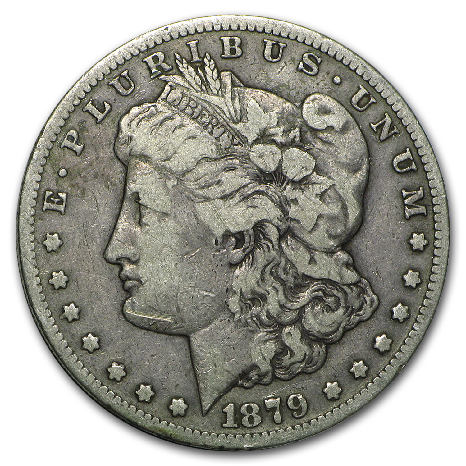 1879-CC Morgan Dollar Capped CC Fine