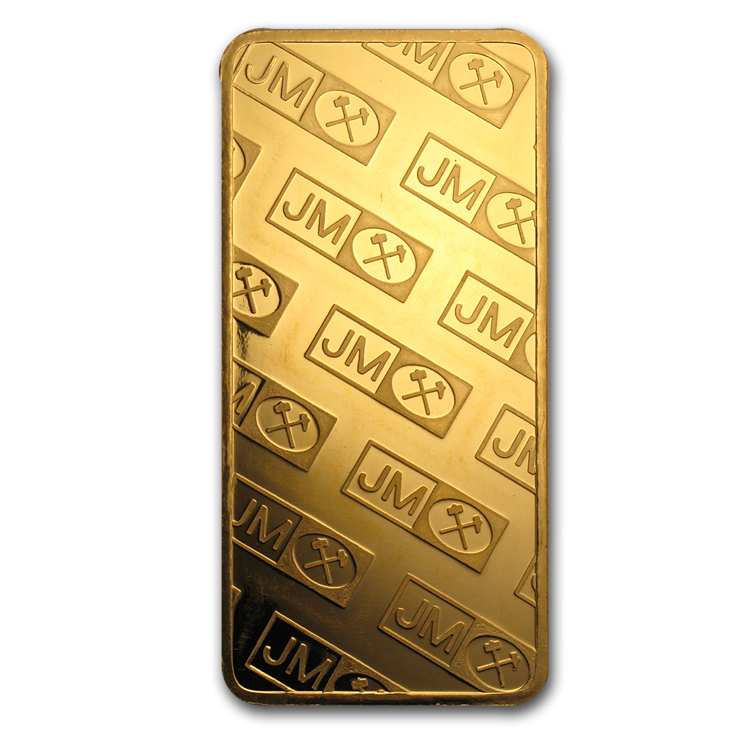 10 oz Gold Bars - Johnson Matthey (Pressed, Logo Back)