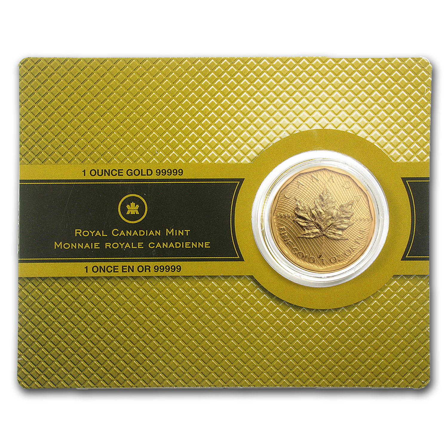 2009 1 oz Gold Canadian Maple Leaf .99999 Fine (W/Assay Card)