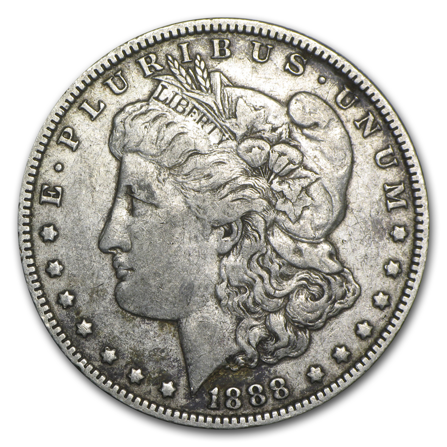 1888-O Morgan Dollar XF (VAM-4, Hot Lips, Doubled Die)