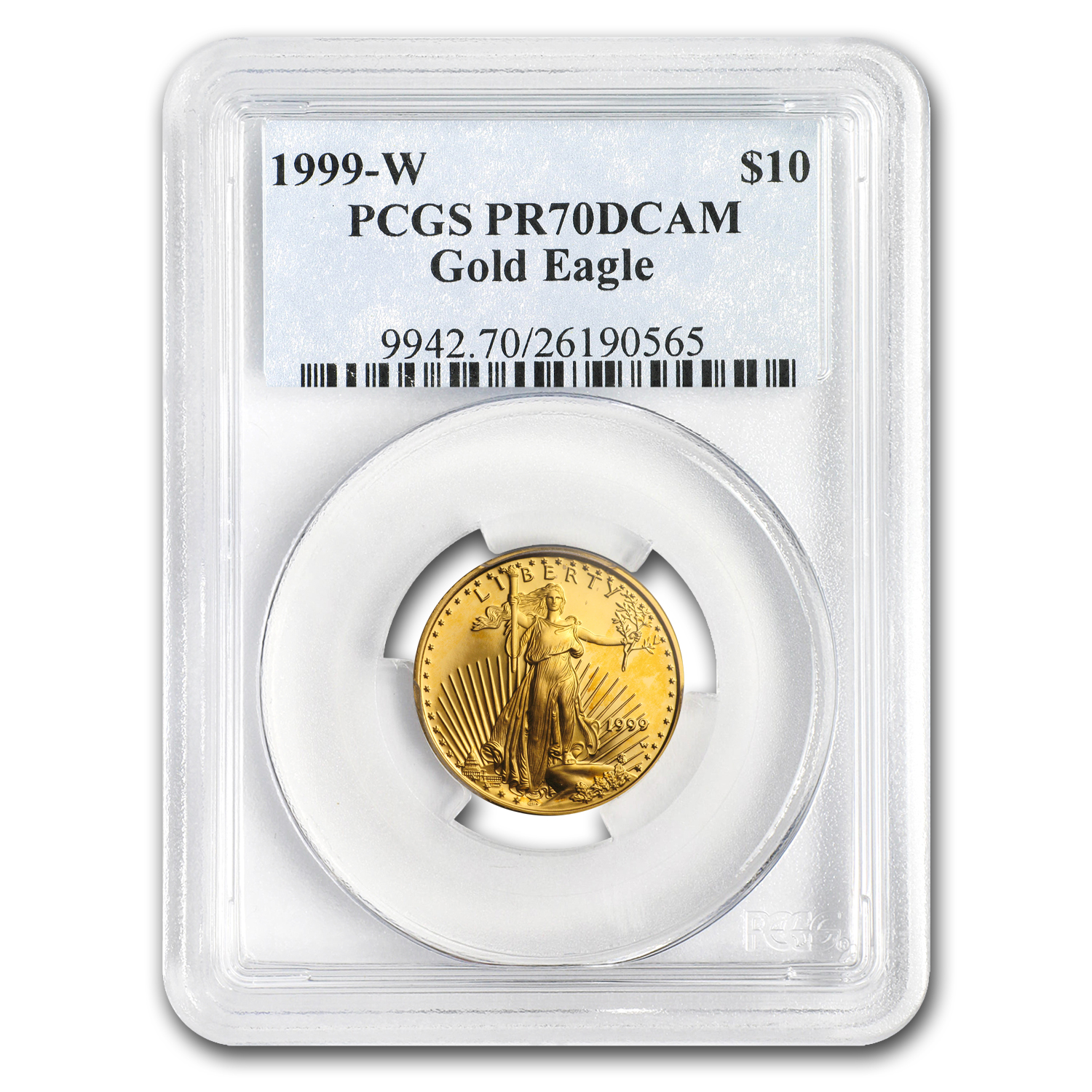 1999-W 1/4 oz Proof Gold American Eagle PR-70 DCAM PCGS