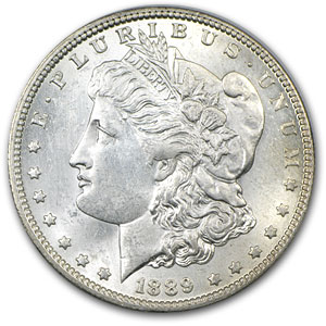 1889-O Morgan Dollar BU Details (Light Hairlines)