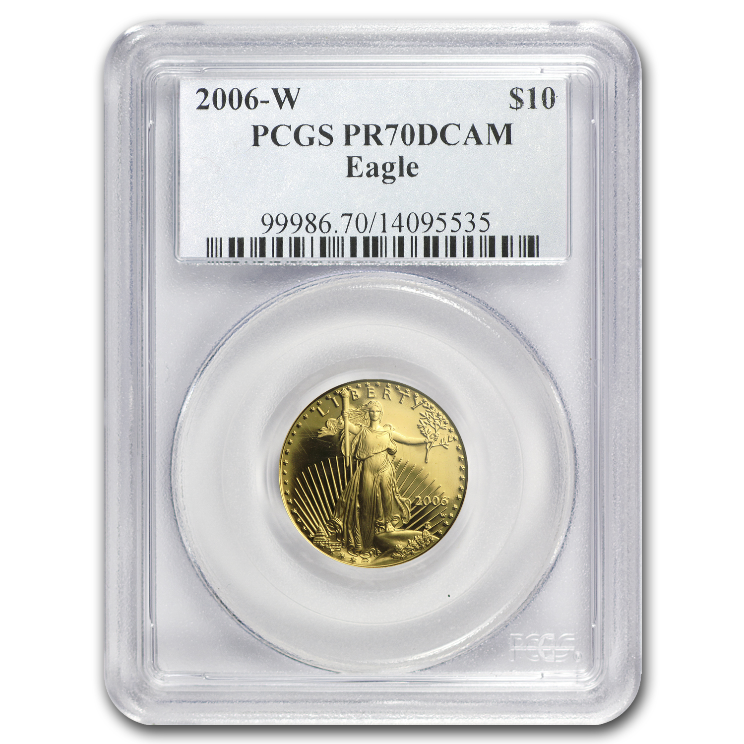 2006-W 1/4 oz Proof Gold American Eagle PR-70 PCGS