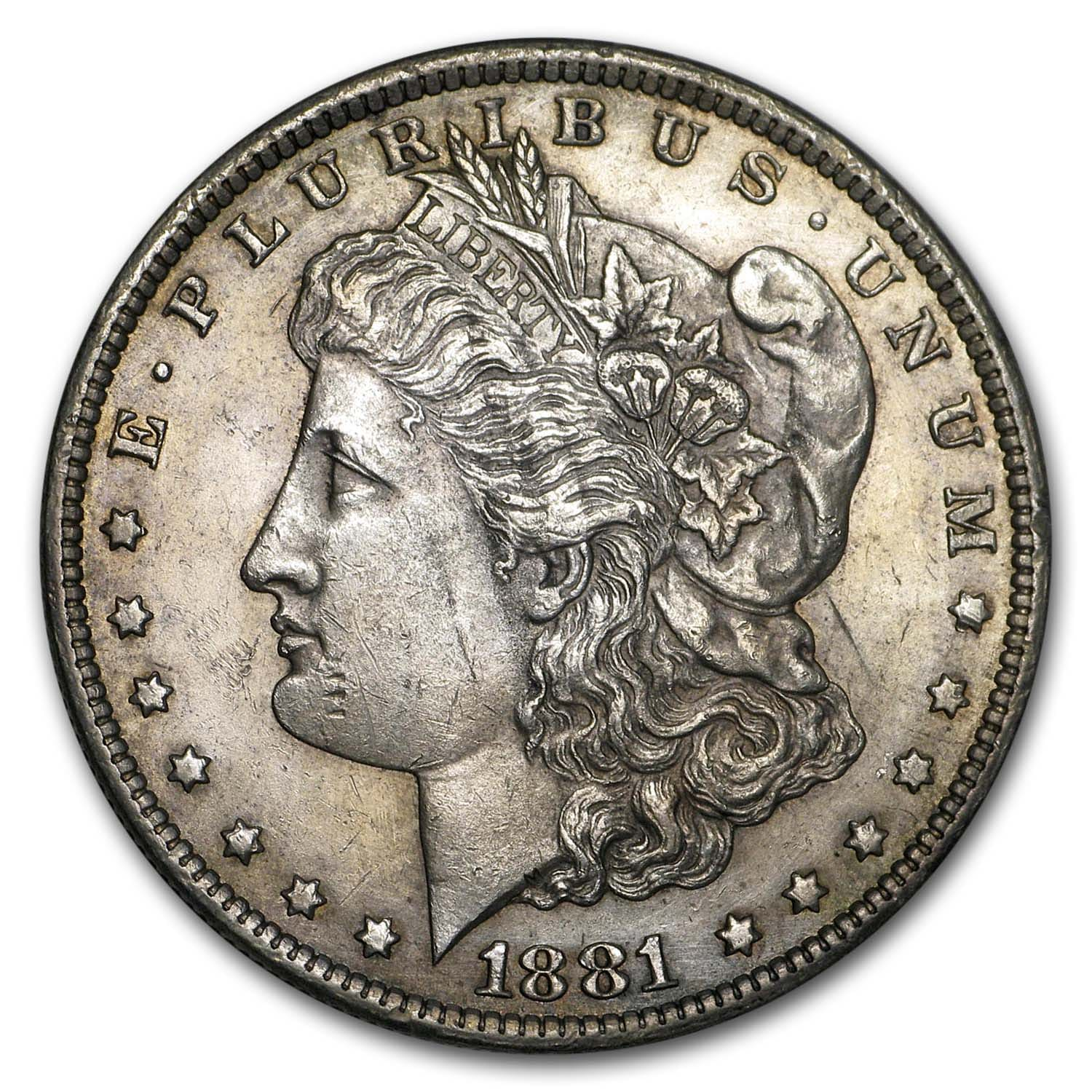 1881-CC Morgan Dollar - Almost Uncirculated