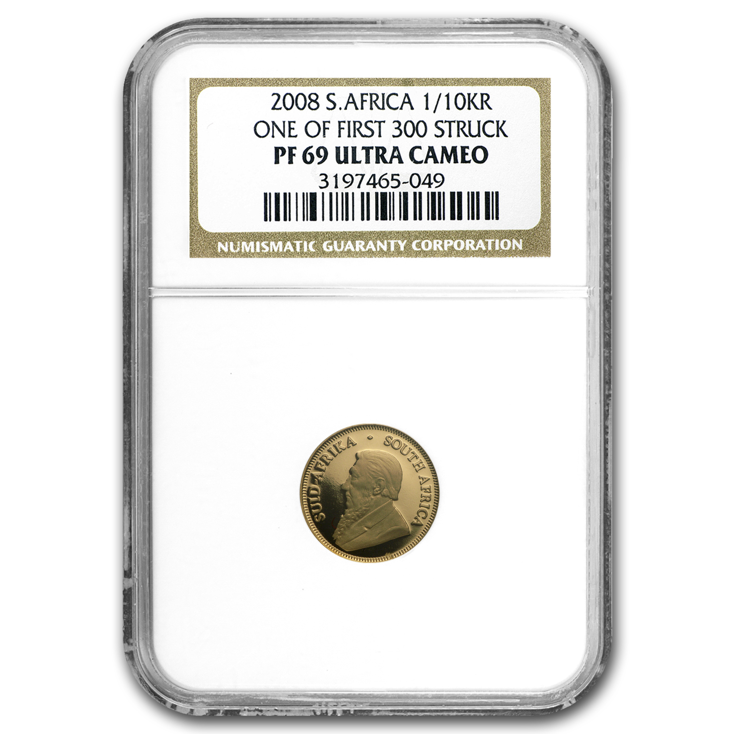 2008 South Africa 4-Coin Gold Krugerrand Proof Set PF-69 NGC