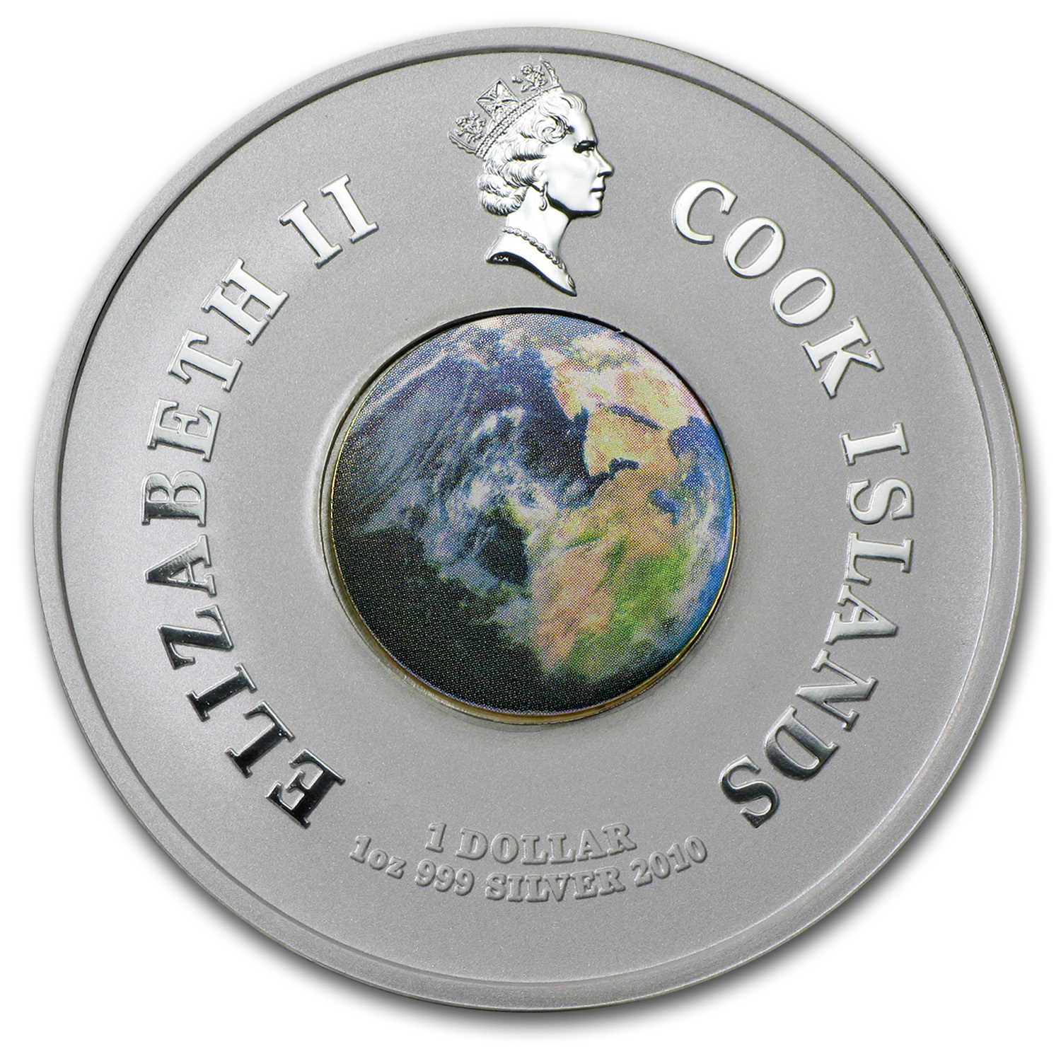 2010 Cook Islands 1 oz Silver 1st Space Shuttle (Orbit & Beyond)
