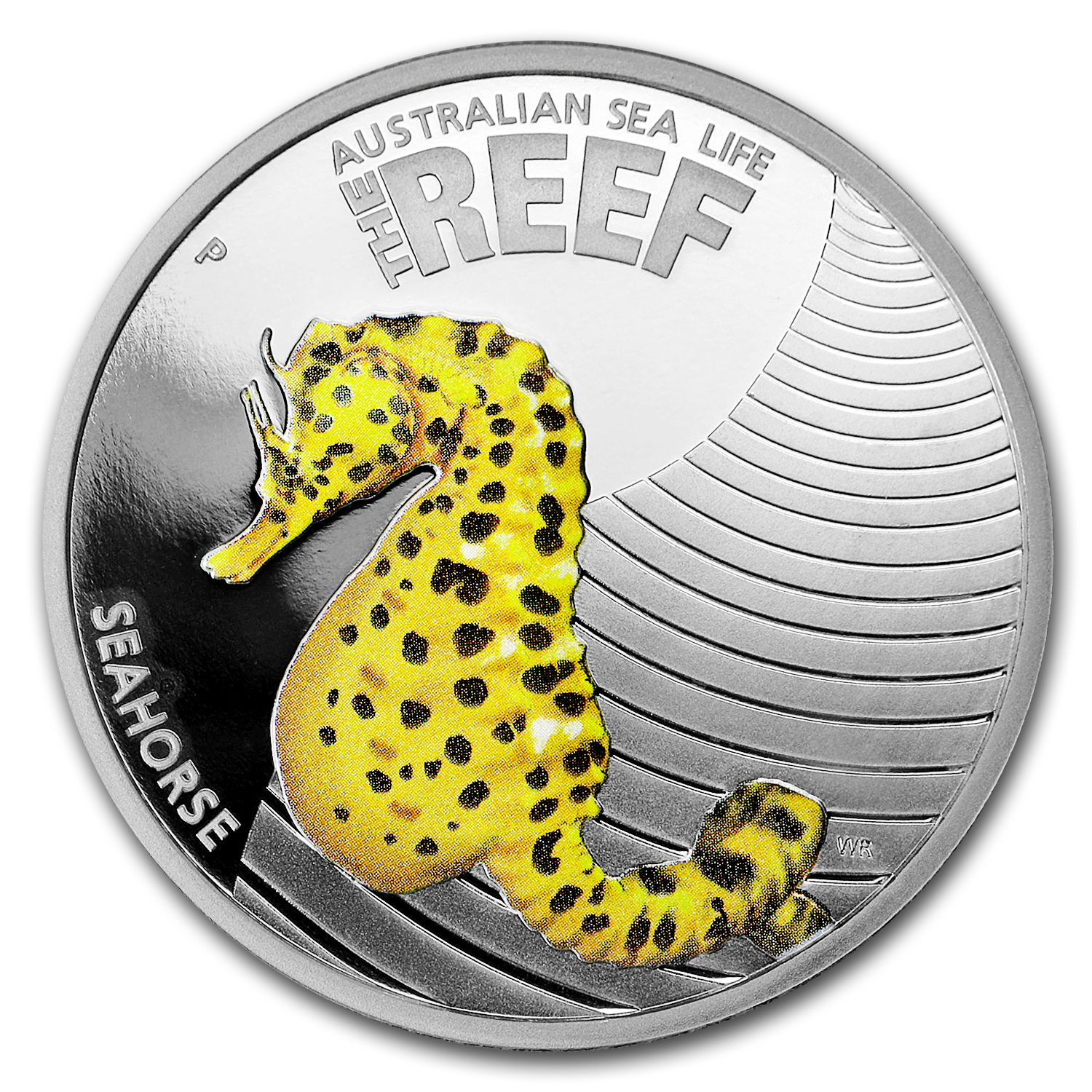 2010 1/2 oz Proof Silver Sea Horse - Sea Life I Series