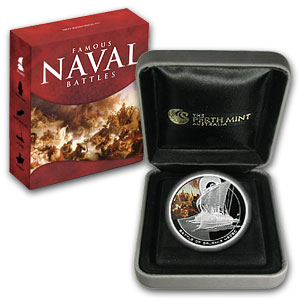 2010 1 oz Proof Silver Battle of Salamis Coin - Naval Battles