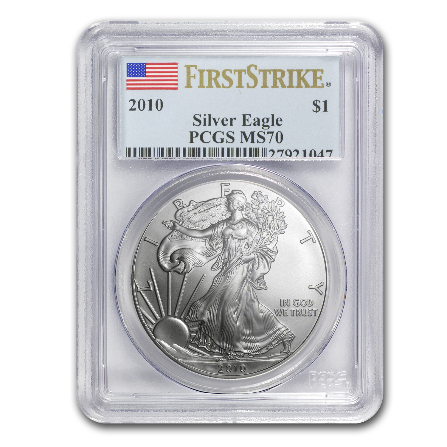 2010 Silver American Eagle MS-70 PCGS (First Strike)