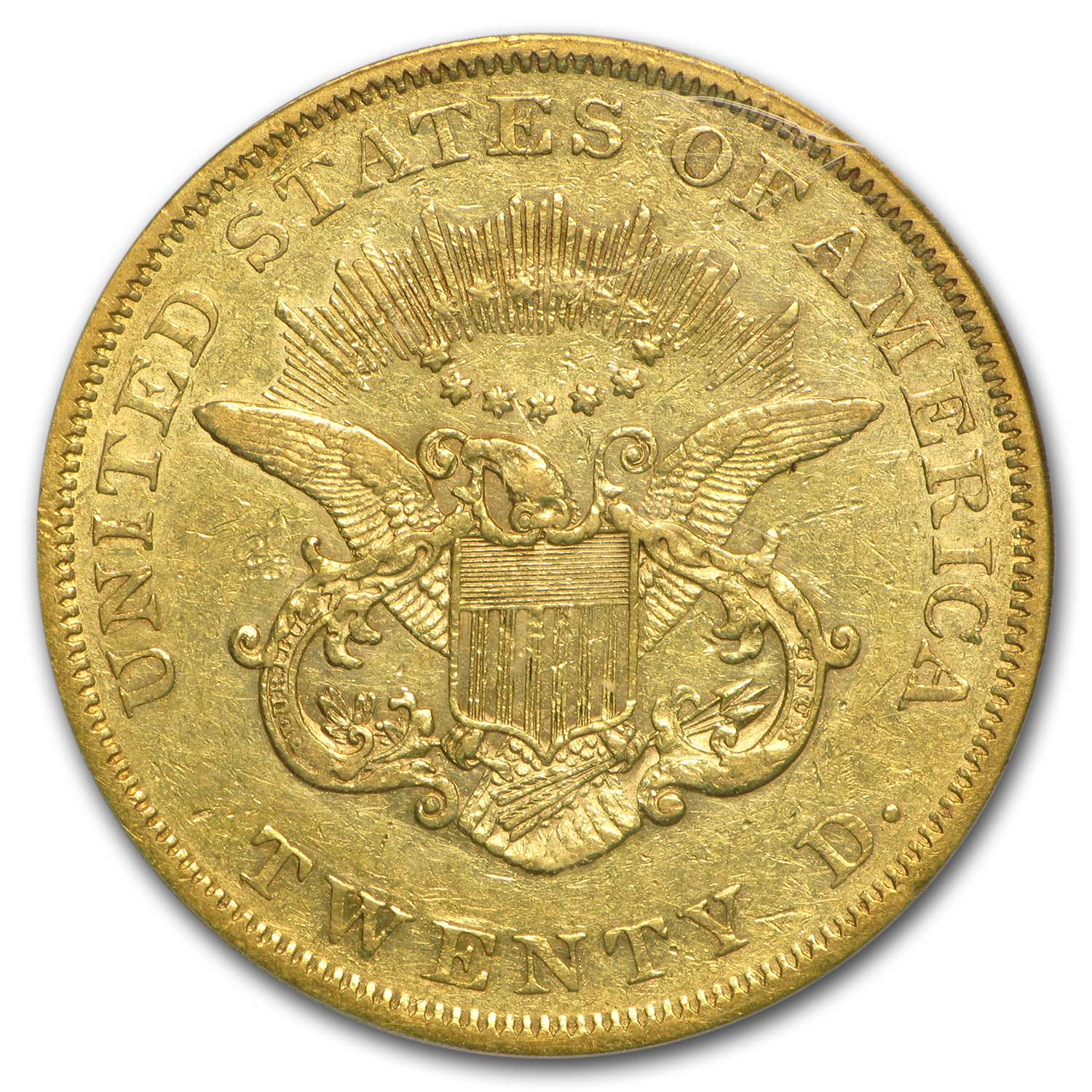 1861 $20 Liberty Gold Double Eagle XF-45 PCGS