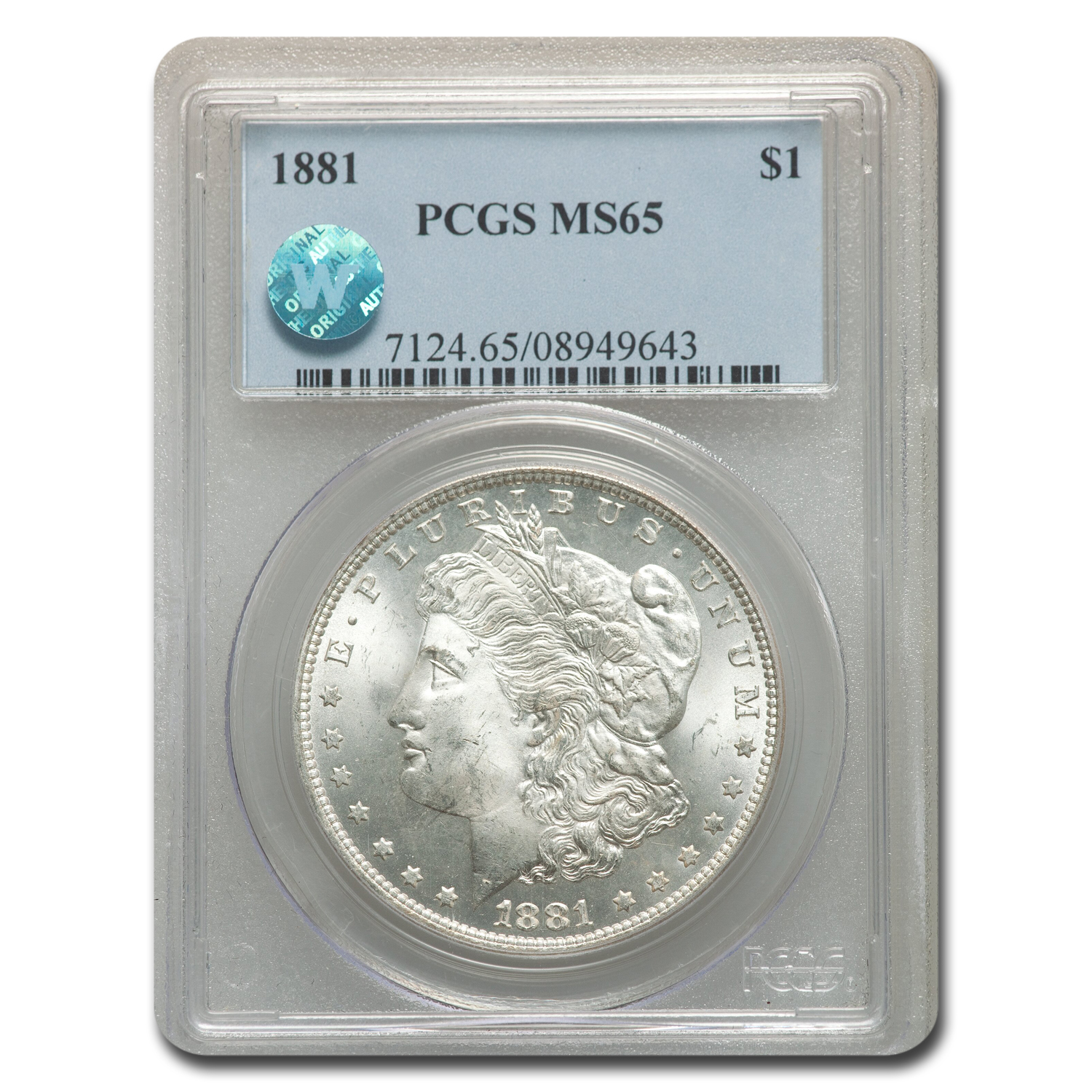 1881 Morgan Dollar MS-65 PCGS