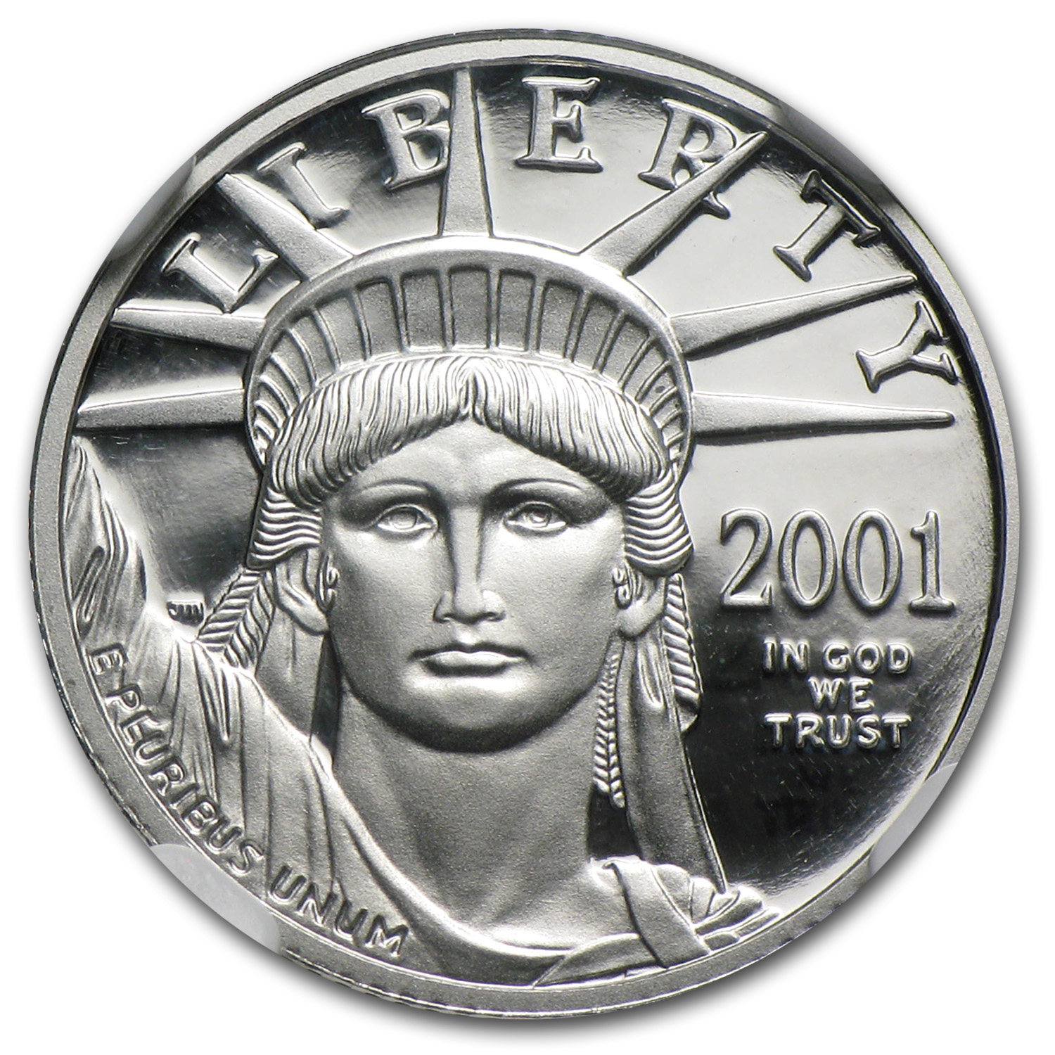 2001-W 1/10 oz Proof Platinum American Eagle PF-70 NGC UCAM