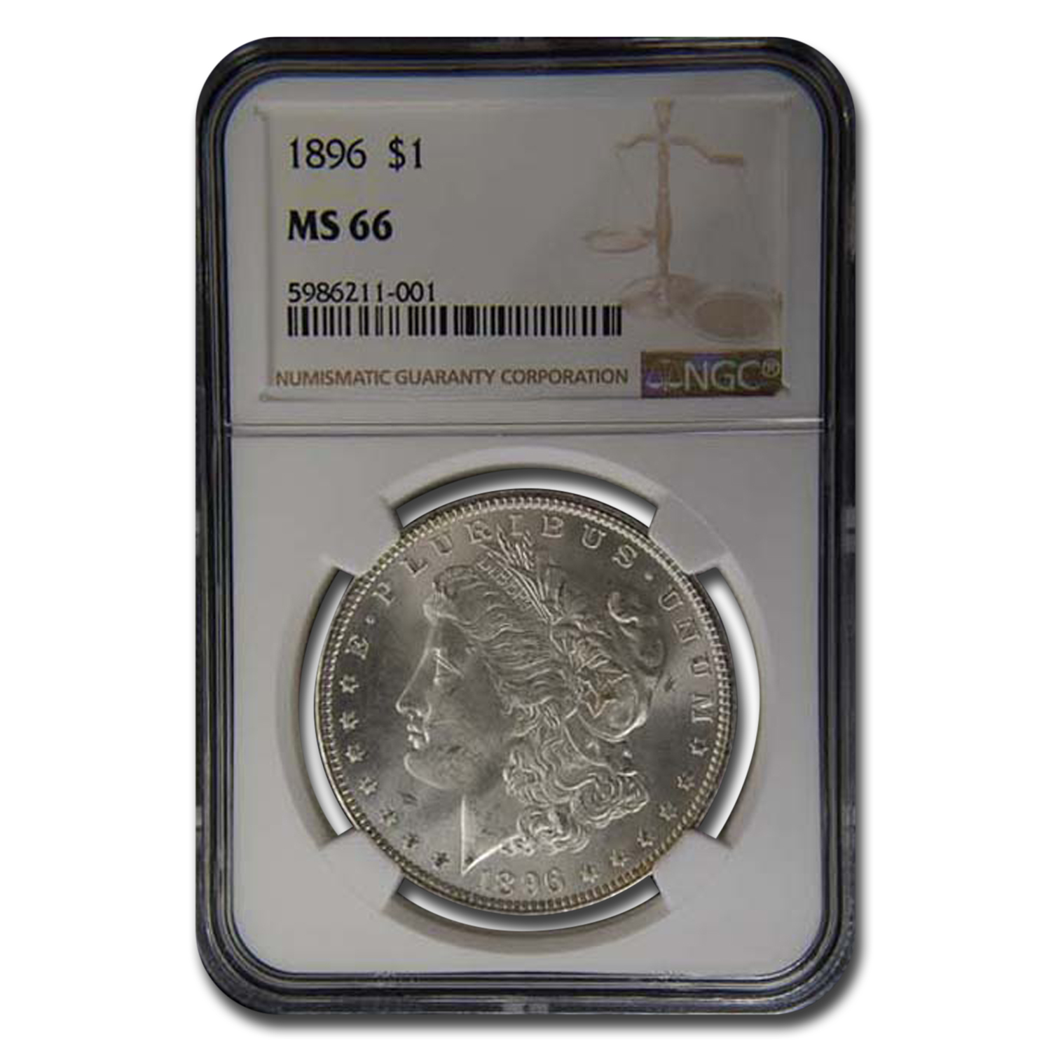 1896 Morgan Dollar MS-66 NGC