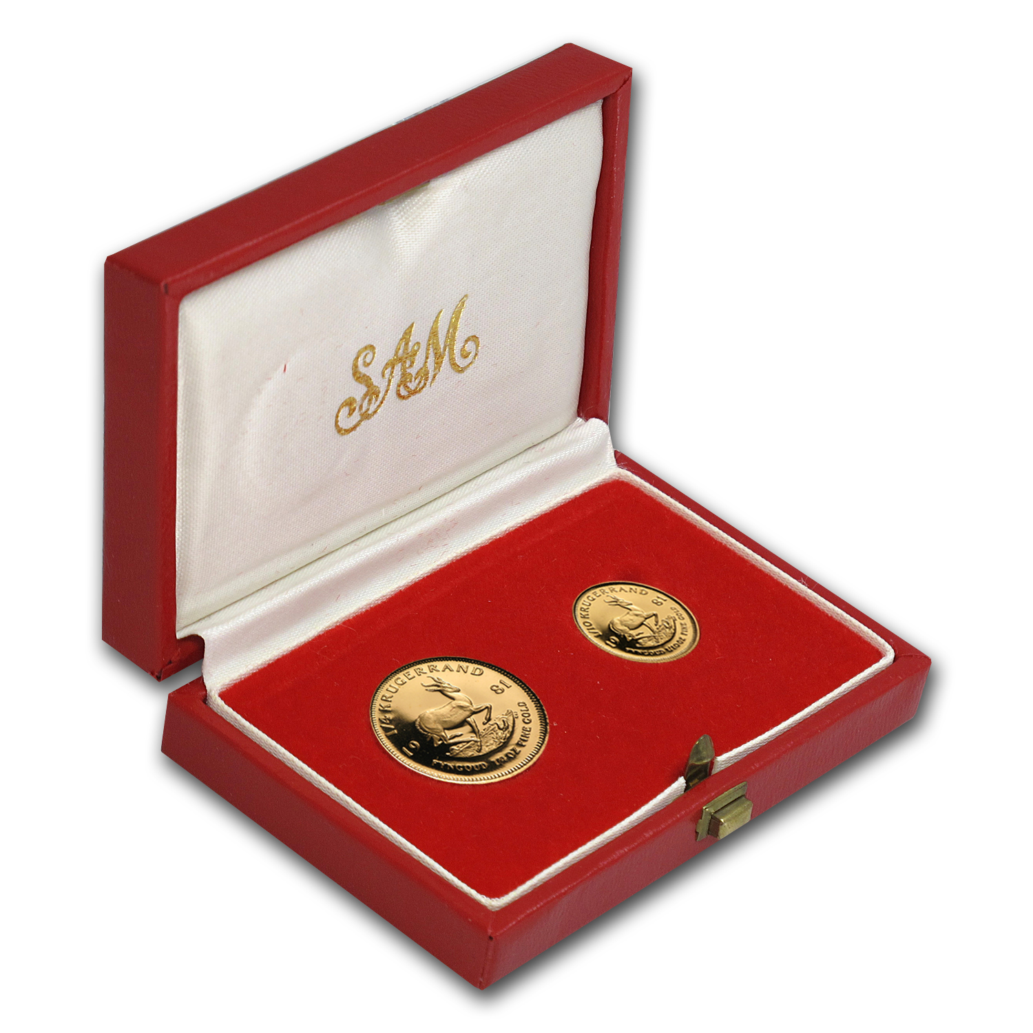 1981 South Africa 2-Coin Gold Krugerrand Proof Set