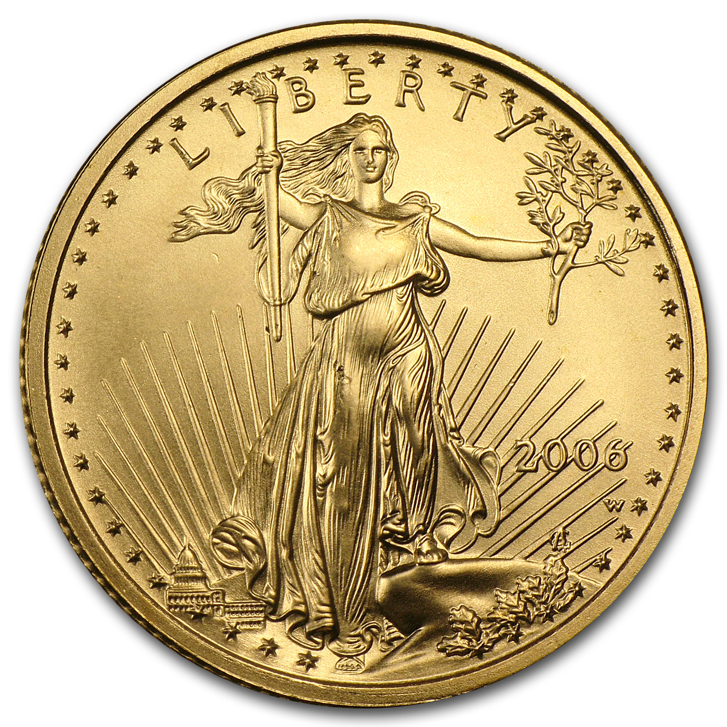 2006-W 1/4 oz Burnished Gold American Eagle