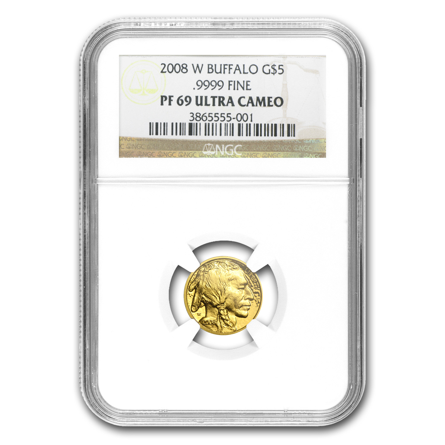 2008-W 1/10 oz Proof Gold Buffalo PF-69 NGC