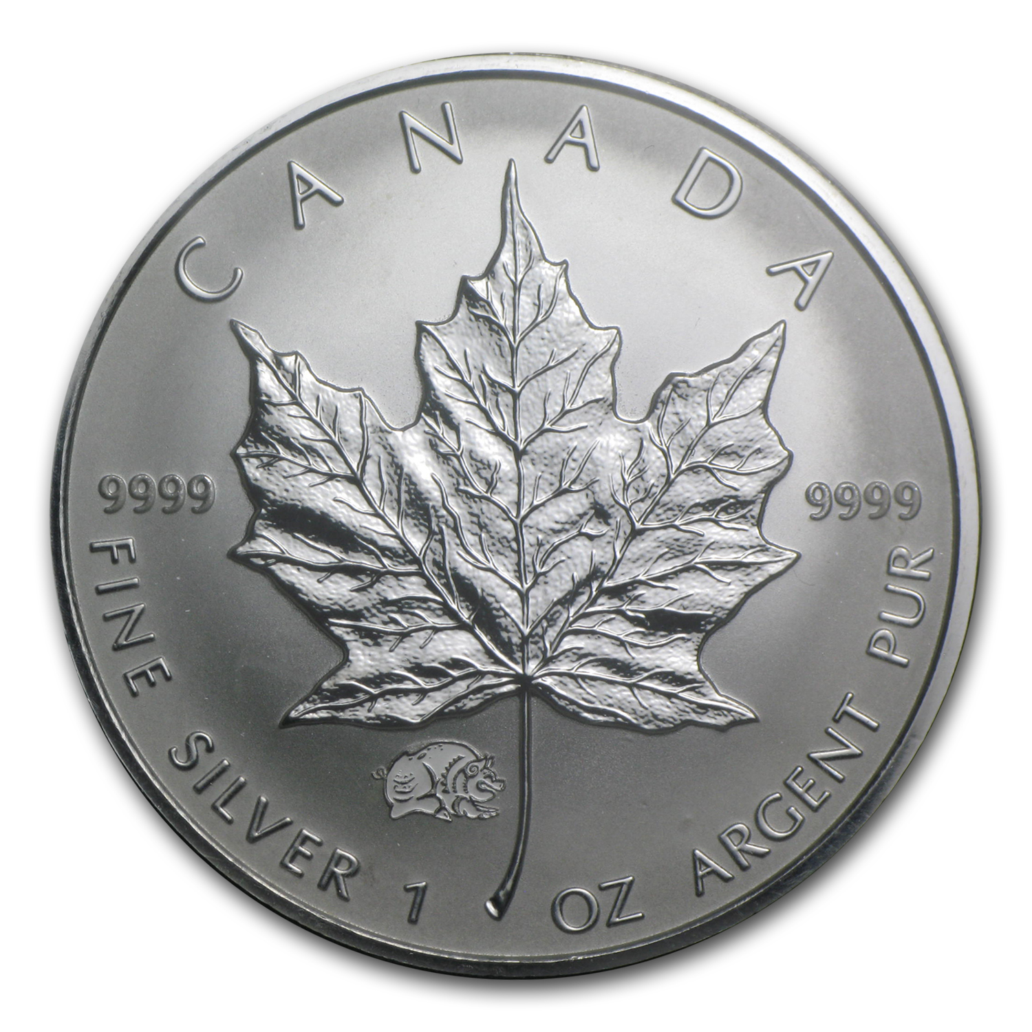 2007 1 oz Silver Canadian Maple Leaf - Lunar PIG Privy