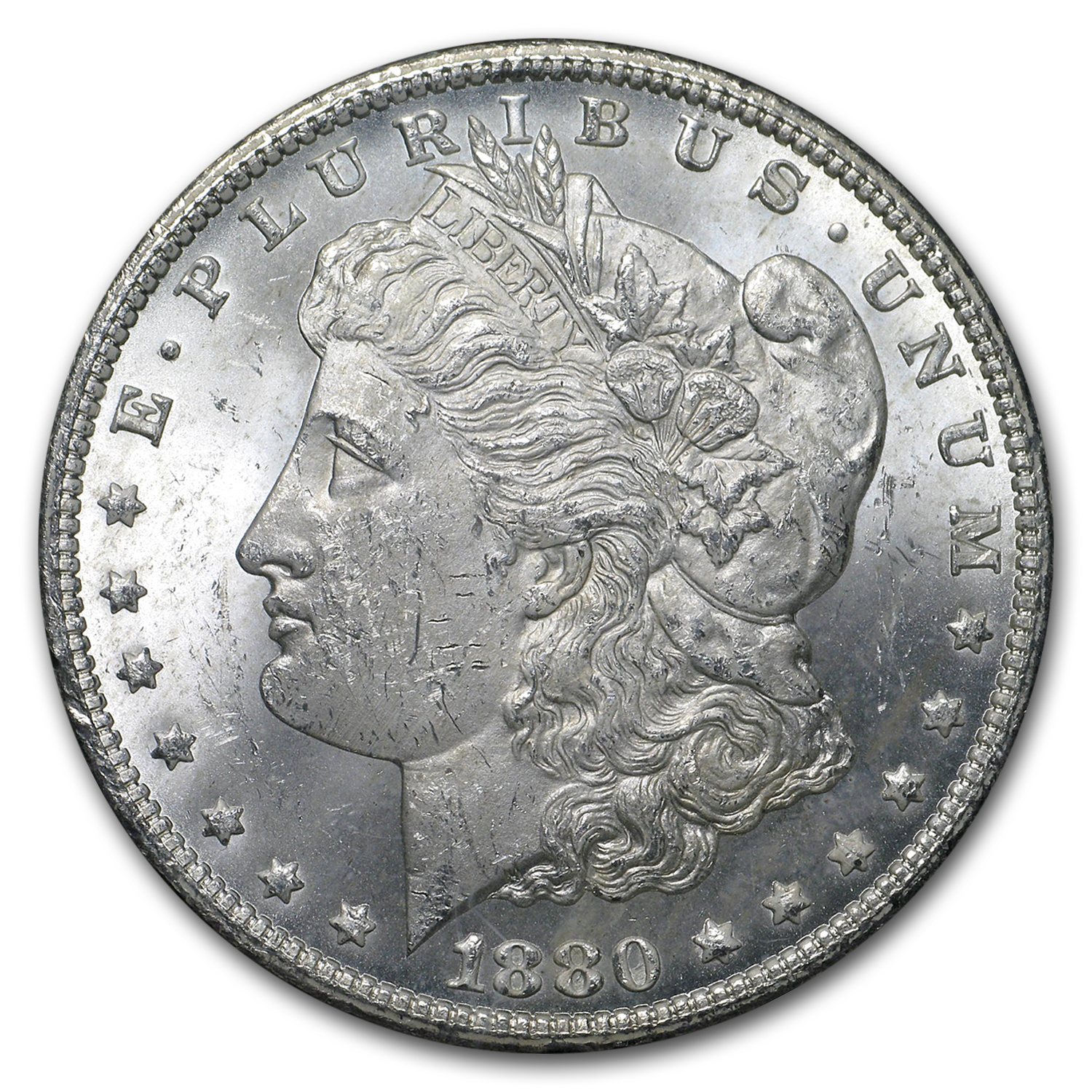 1880-CC Morgan Dollar Rev of 1878 BU (GSA)