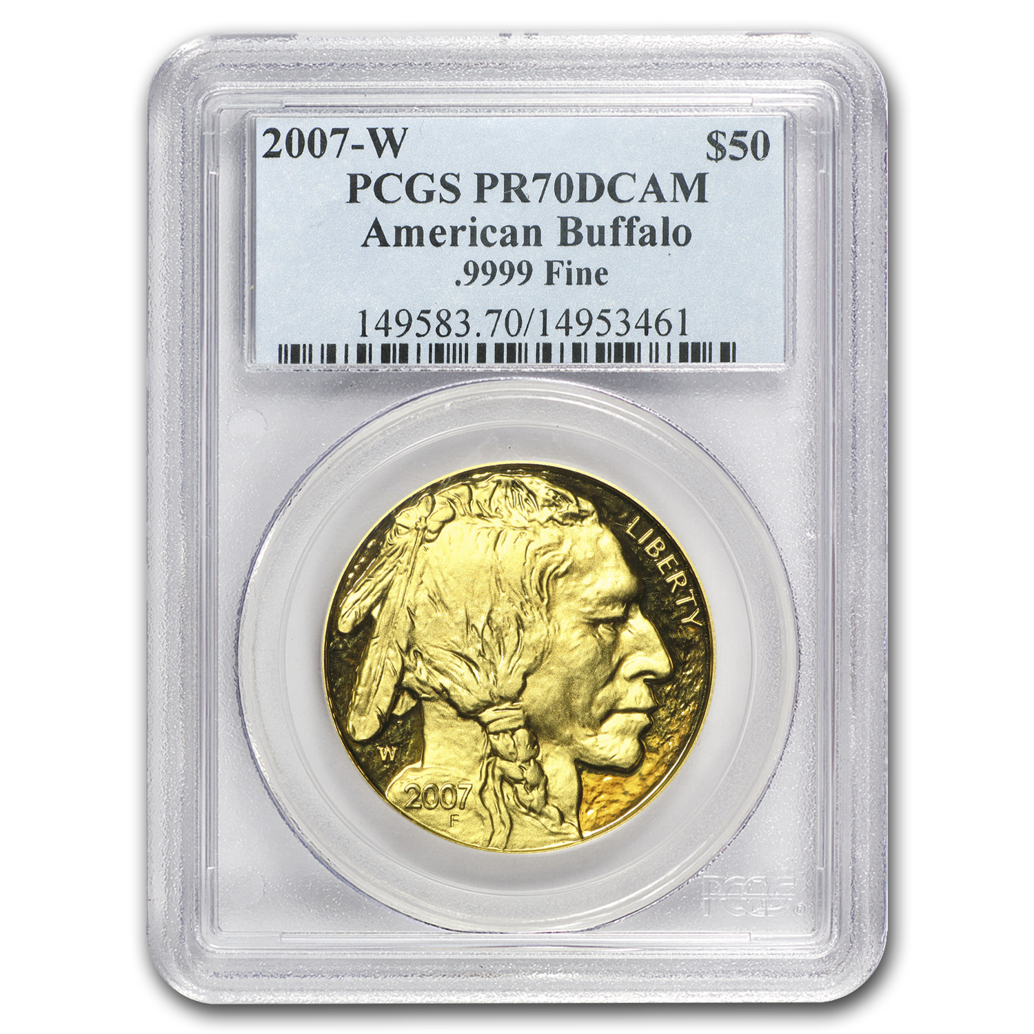 2007-W 1 oz Proof Gold Buffalo PR-70 PCGS