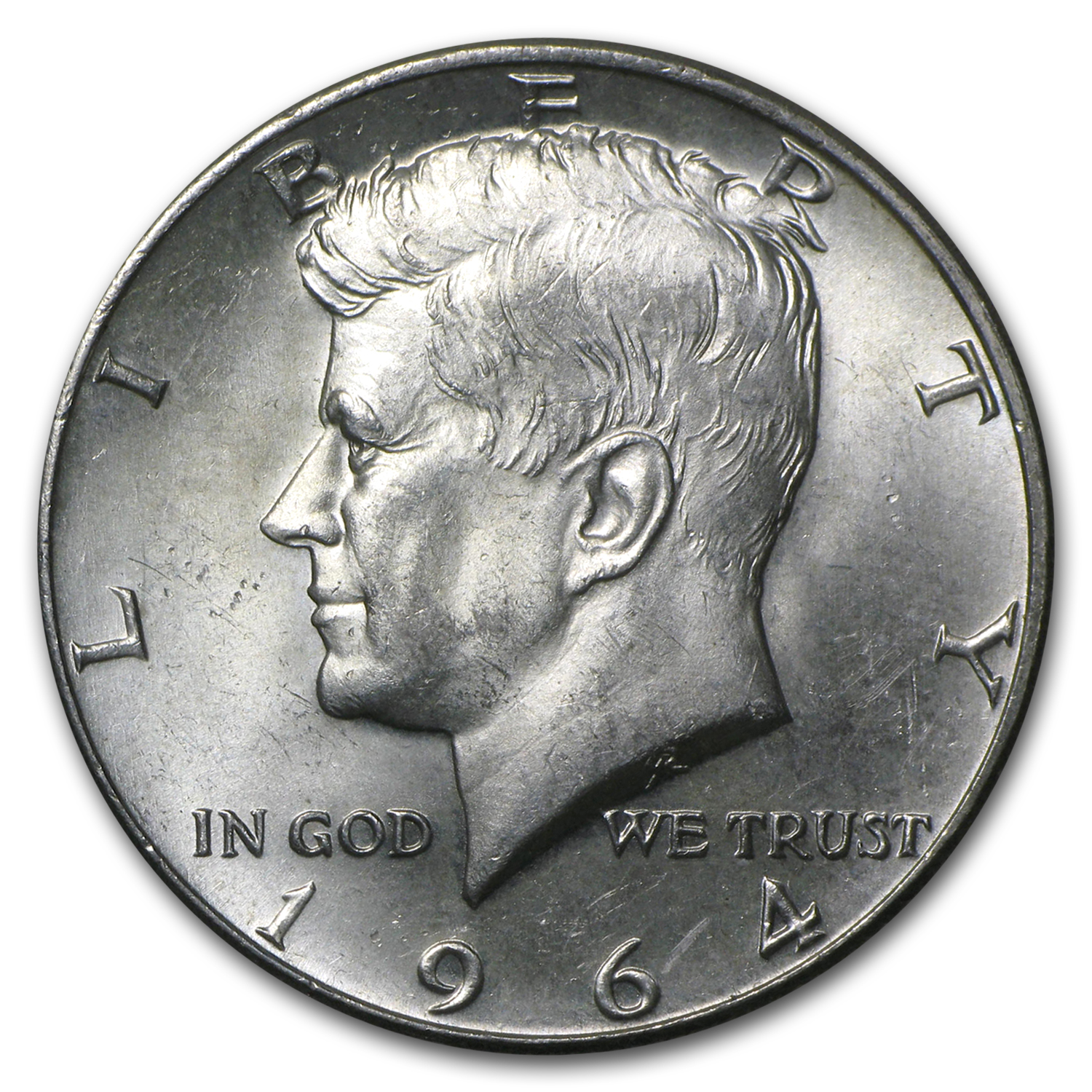 90% Silver Kennedy Half-Dollars $500 Face-Value Bag (1964)