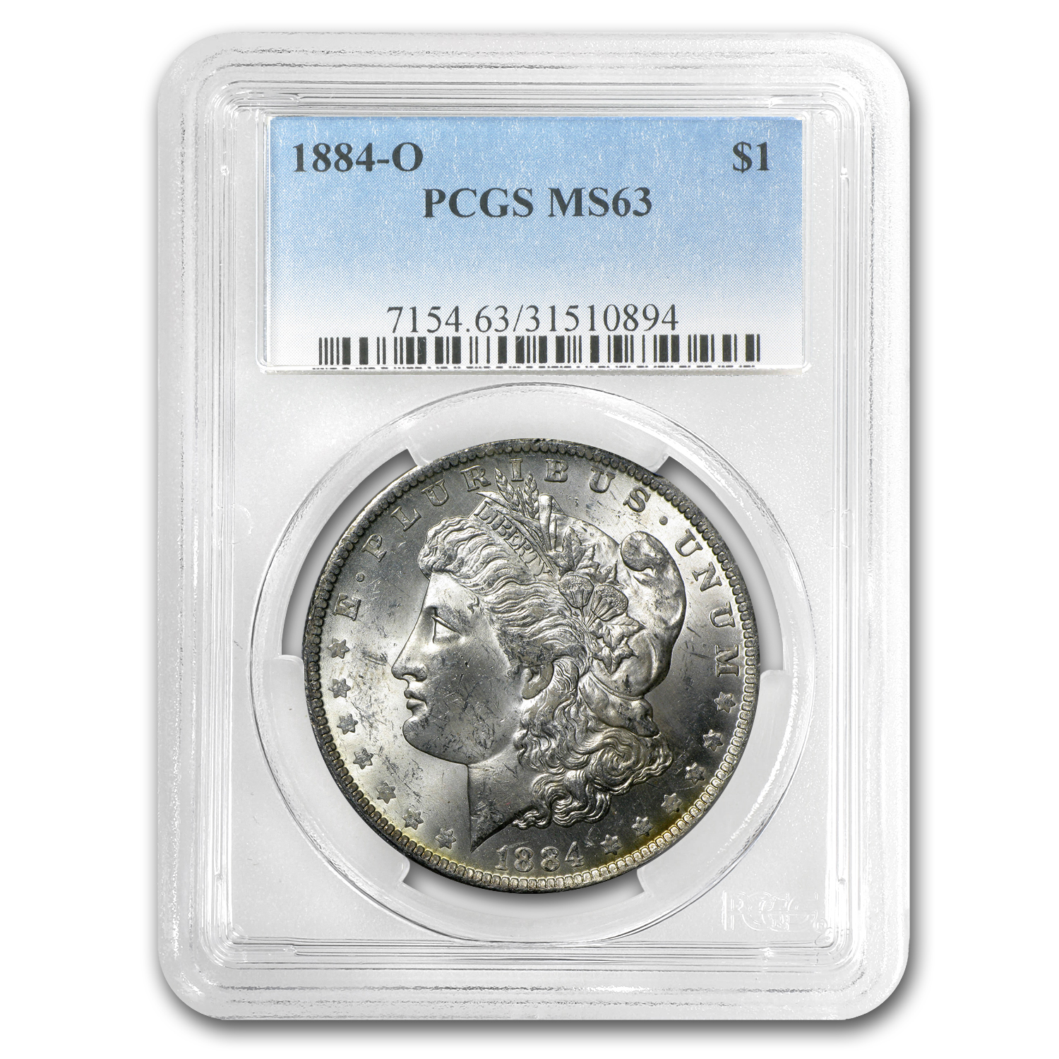 1884-O Morgan Dollar MS-63 PCGS (Nice Rev Toning)