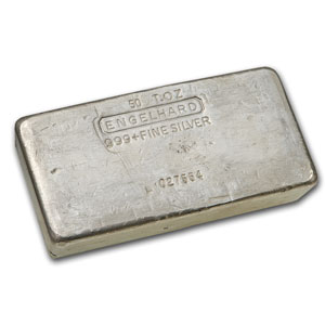 50 oz Silver Bar - Engelhard (Poured/Vintage)