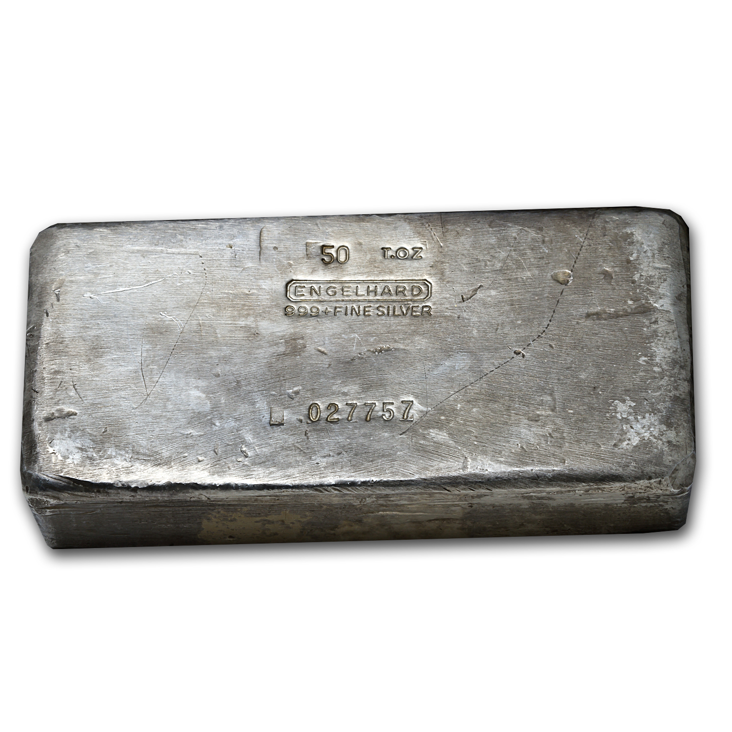 50 oz Silver Bars - Engelhard (Poured/Vintage)