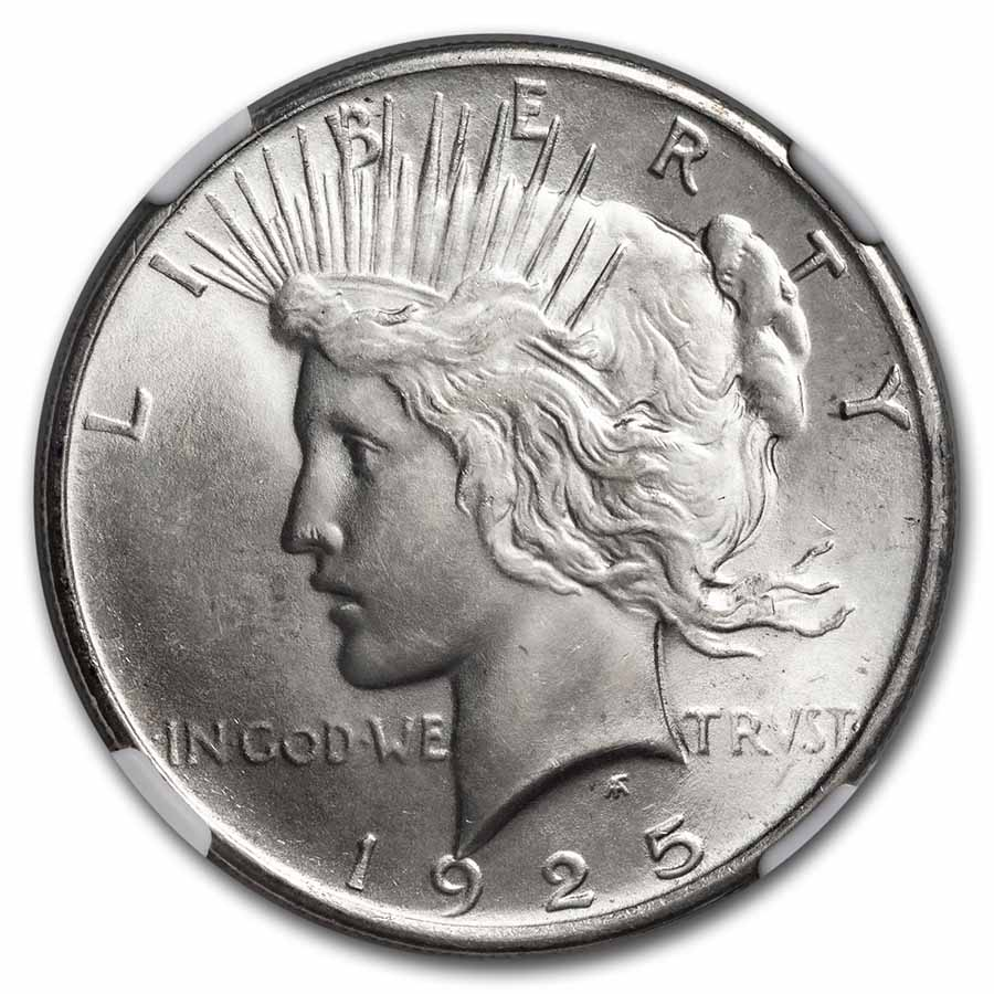 1925 Peace Dollar MS-66 NGC