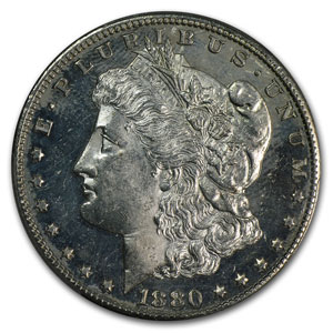 1880-S Morgan Dollar MS-63 DMPL PCGS