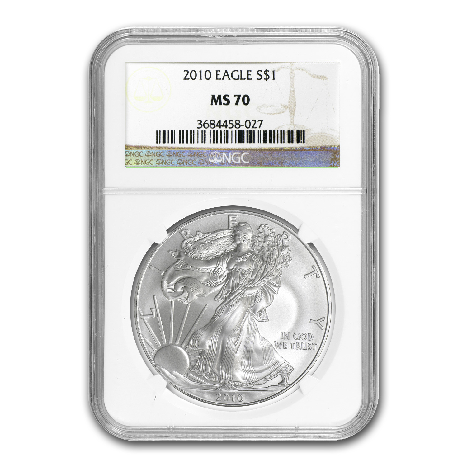 2010 Silver American Eagle MS-70 NGC
