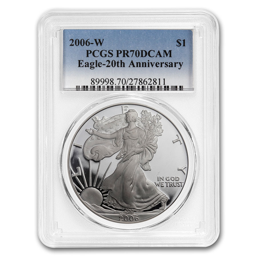 2006-W (3 Coin) Silver Eagle Set MS-70 & PR-70 DCAM PCGS