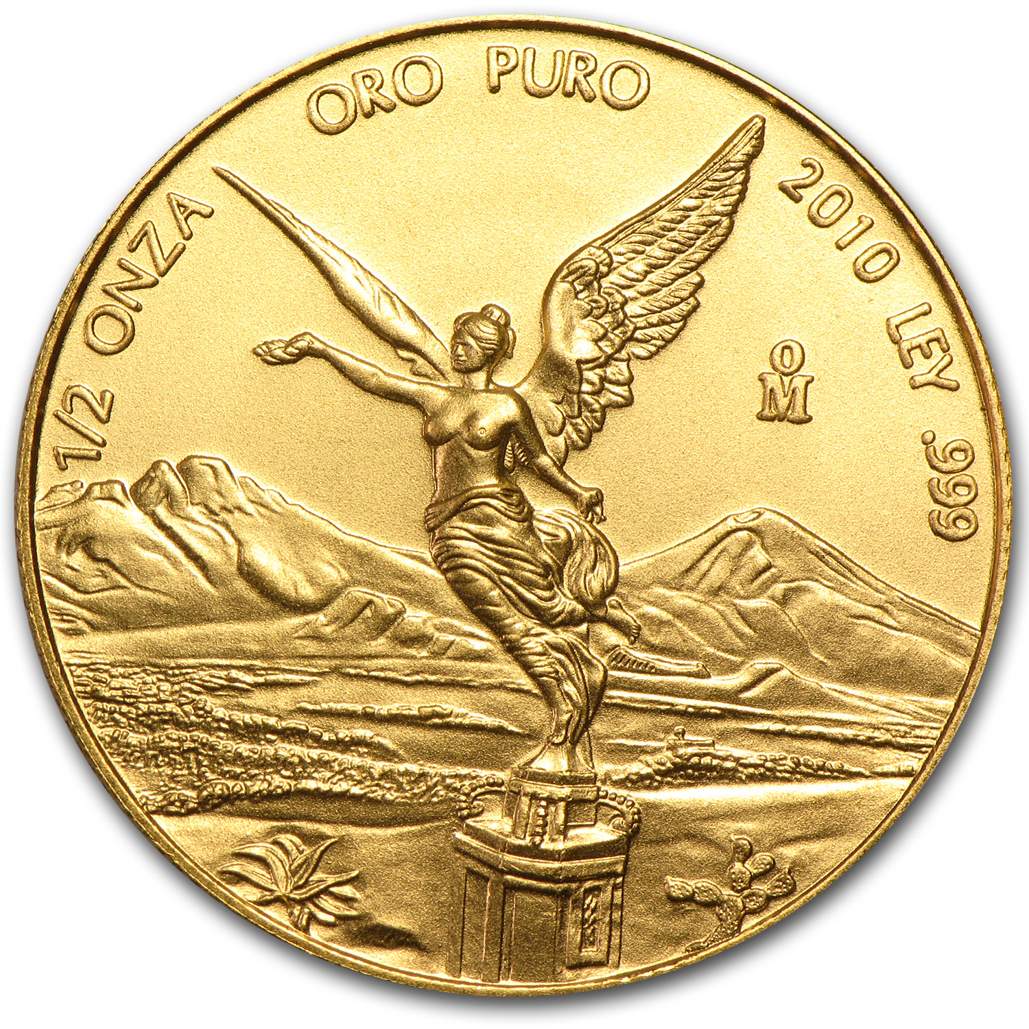 2010 Mexico 1/2 oz Gold Libertad BU