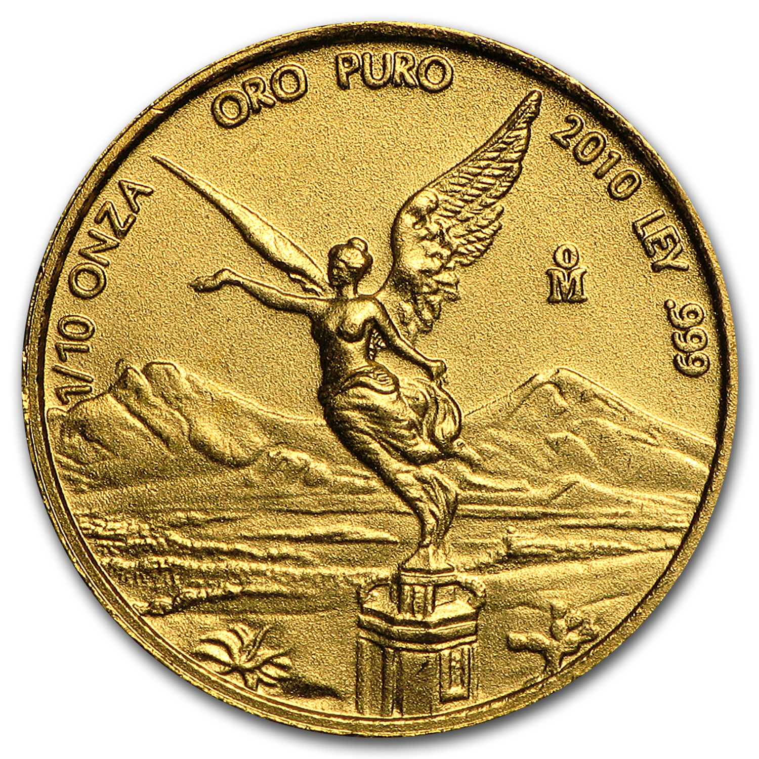 2010 Mexico 1/10 oz Gold Libertad BU