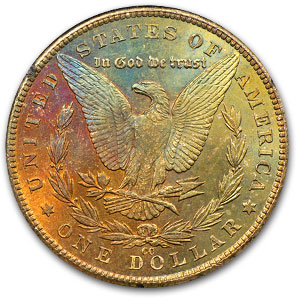 1883-CC Morgan Dollar MS-63 (GSA, Rev Rainbow)