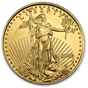 2008-W 1/10 oz Burnished Gold American Eagle