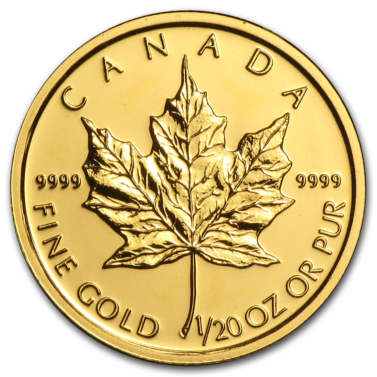 2010 Canada 1/20 oz Gold Maple Leaf BU