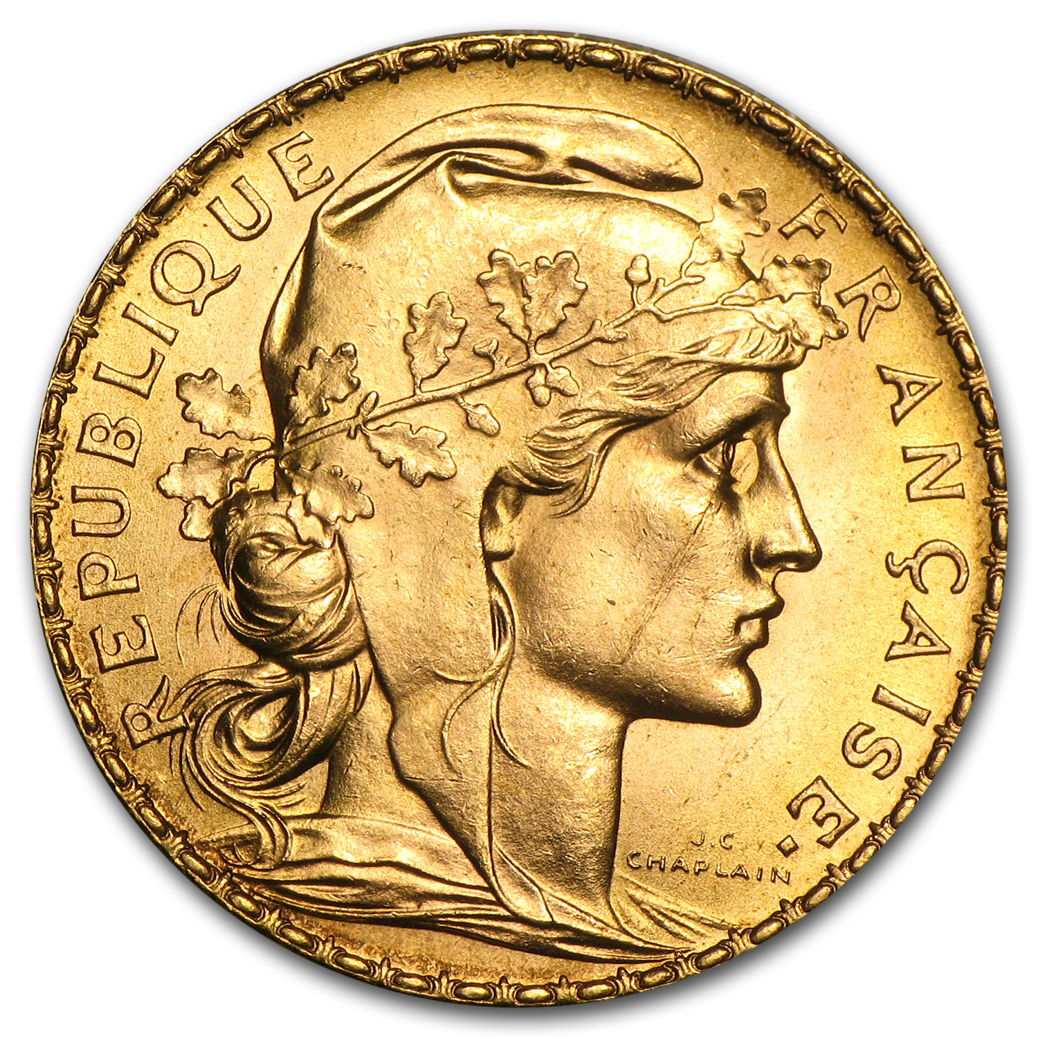 1899-1914 France Gold 20 Francs Rooster Average Circ.