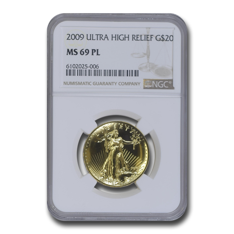 2009 Ultra High Relief Double Eagle MS-69 PL NGC (Gold Label)