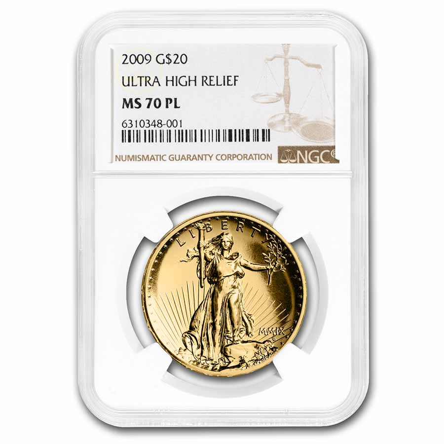 2009 Ultra High Relief Gold Double Eagle MS-70 PL NGC(Gold Label)