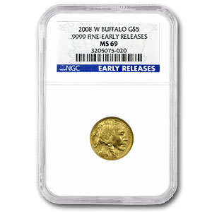 2008-W 1/10 oz Gold Buffalo MS-69 NGC (Early Releases)