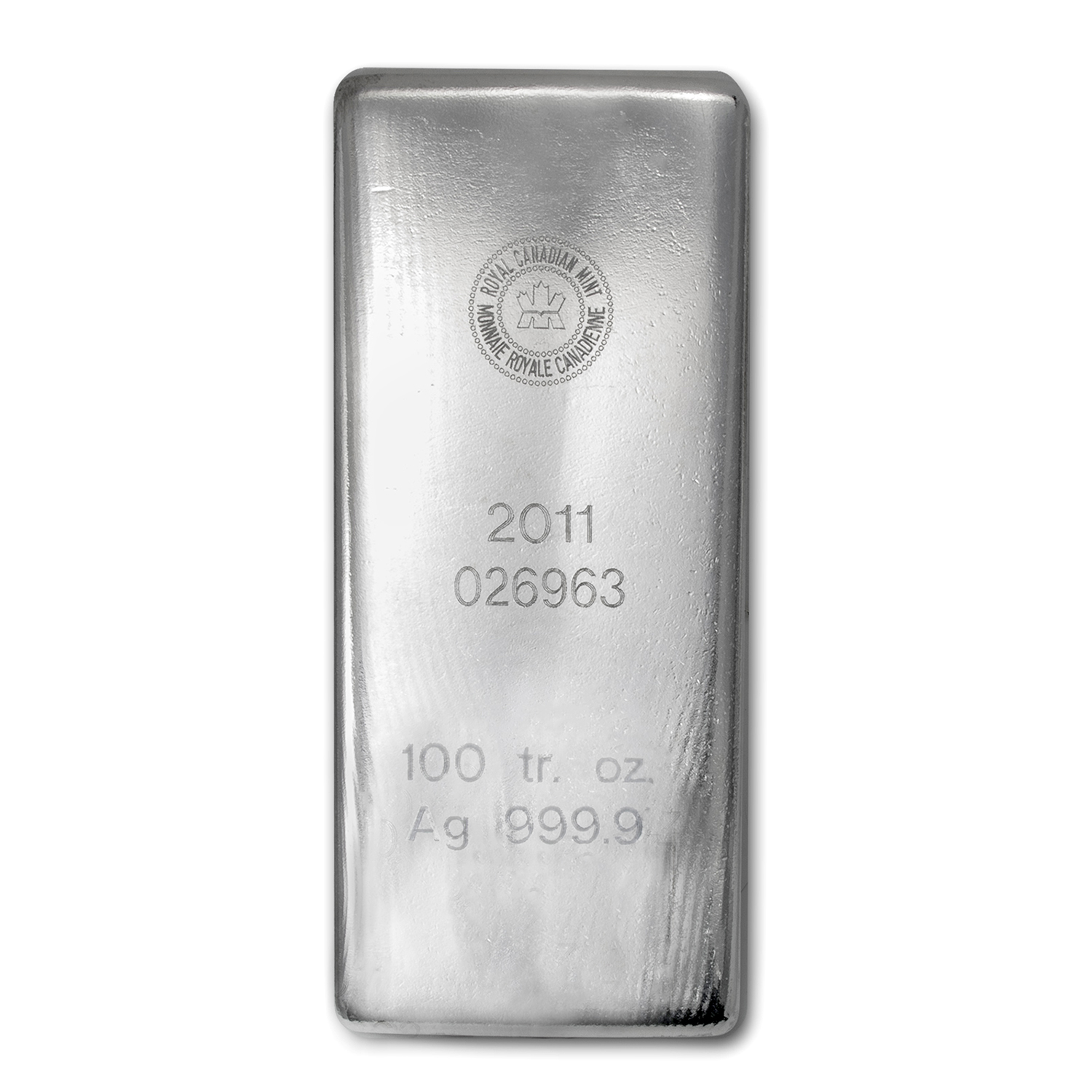 100 oz Silver Bar - RCM (.9999 Fine)