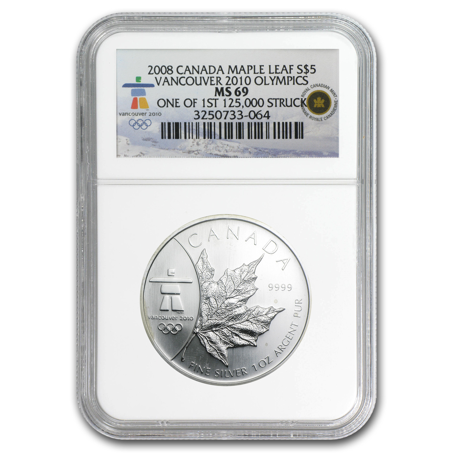 2008 Canada 1 oz Silver Maple Leaf MS-69 NGC (Vancouver)