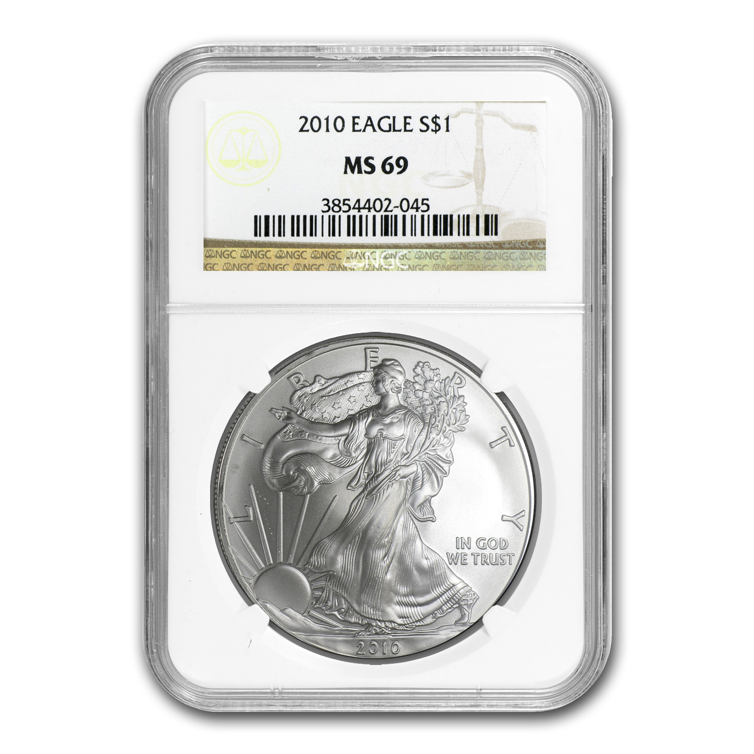 2010 Silver American Eagle MS-69 NGC