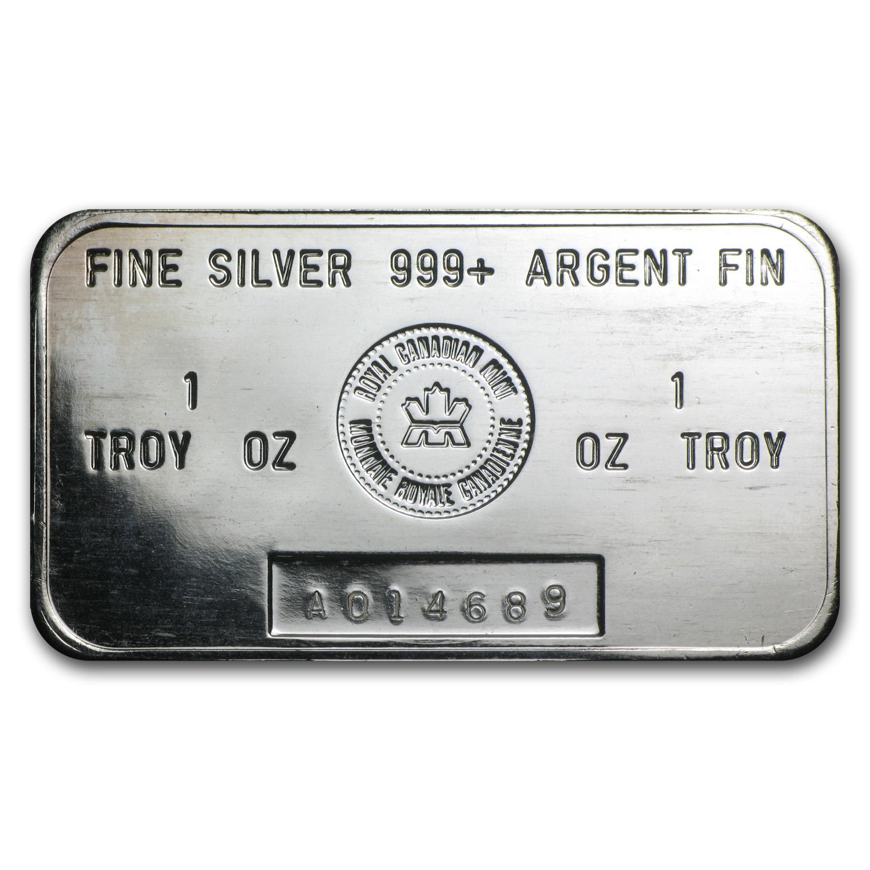 1 Oz Silver Bar Royal Canadian Mint Rcm 1 Oz Silver