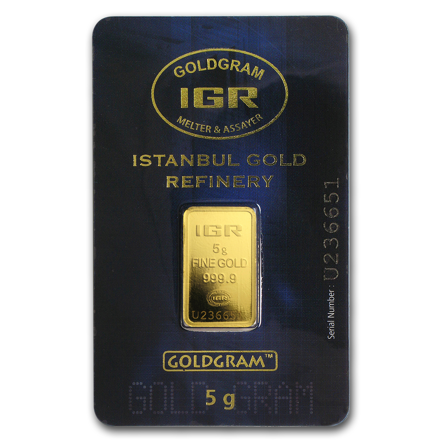 5 gram Gold Bar - Istanbul Gold Refinery (In Assay) 7/30