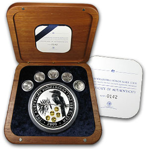 2000 Australia 1 kilo Silver Kookaburra BU (Gold Honor Mark)