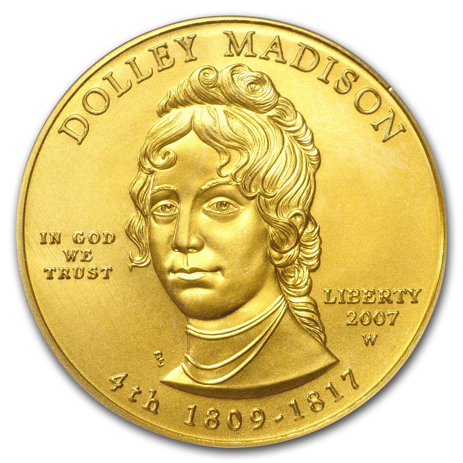 2007-W 1/2 oz Gold Dolley Madison MS-70 PCGS (First Strike)