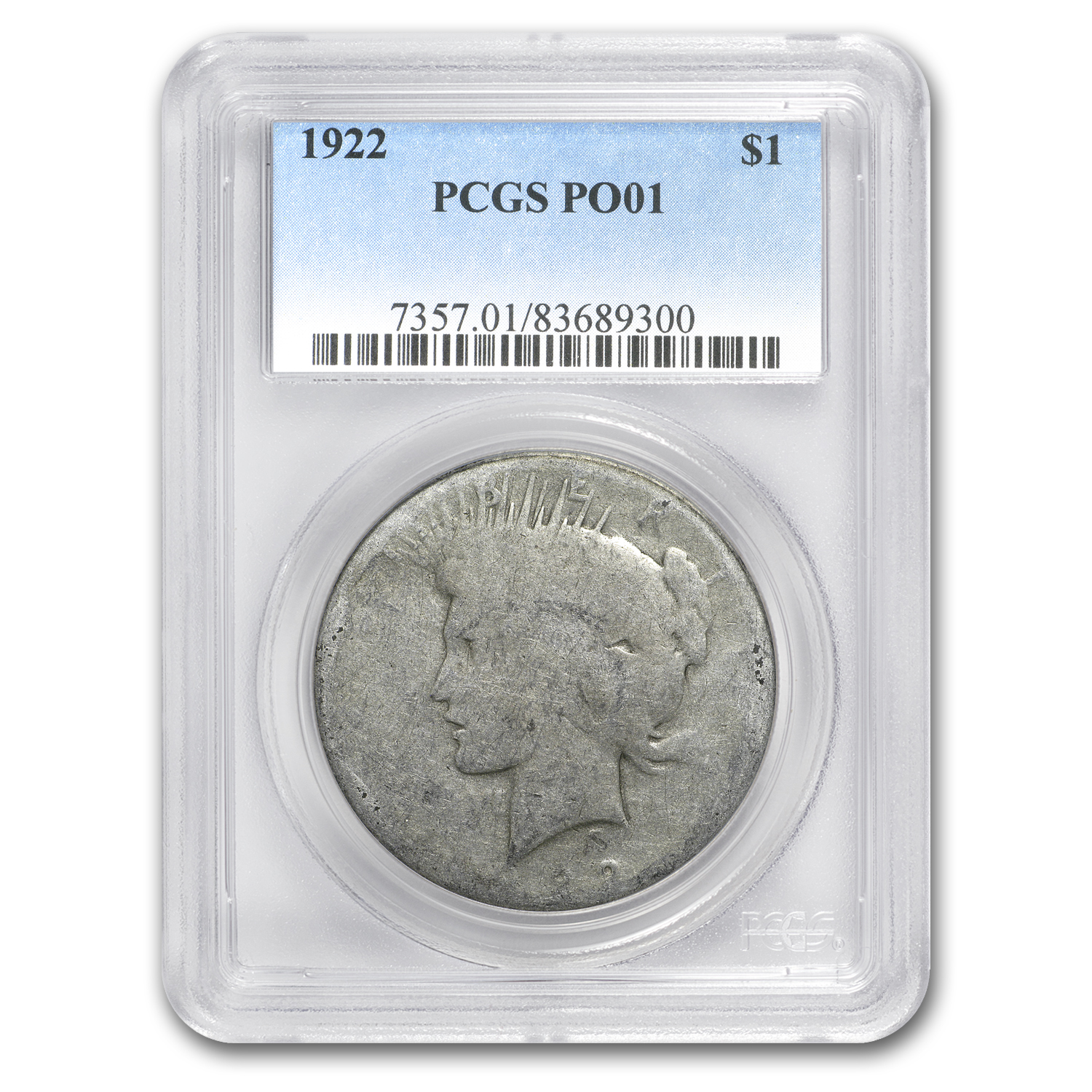 1922 Peace Dollar Poor-1 PCGS (Low Ball Registry)